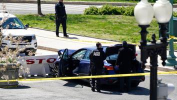 Conductor atropella y mata a policía del Capitolio