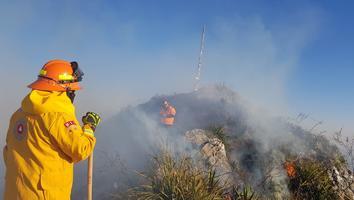 Solo 20% de incendio en el Cerro de la Silla ha sido controlado