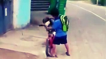 Niño pone cubrebocas a su perro para salir a jugar juntos [VIDEO]