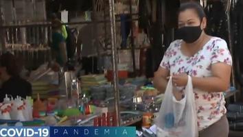 Acatan medidas sanitarias en mercado de la colonia Valle de Infonavit